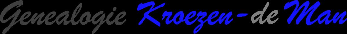 Genealogie Kroezen-de Man
